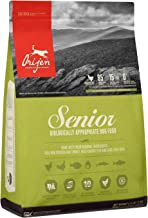 ORIJEN Senior Dry Dog Food, Grain Free, High Protein, Fresh and Raw Animal Ingredients
