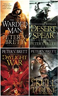 Books 1-4 in Peter V. Brett's The Demon Cycle (Set Includes: The Warded Man, The Desert Spear, The Daylight War and The Skull Throne)