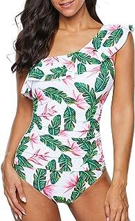 Mycoco Women's Fashion Bikini Swimwear Lace-up Padded Scalloped Triangle Bikini Set Two Piece Swimsuit