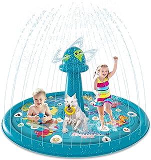 "Splash Pad,Sprinkler for Kids,68""Upgraded Alien Theme, Splash Play Mat for Learning ""from A to Z""Sprinkler PoolPad, Par..."