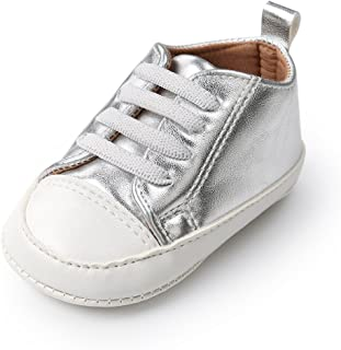 Kuner Baby Boys and Girls PU Leather Rubber Sole Outdoor Sneakers First Walkers Shoes