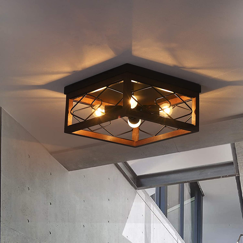 Farmhouse Chandelier Kitchen Island Lighting fixtures Industrial Rustic Pendant Light Dinning Room Loft Bar Lighting 4 Lights