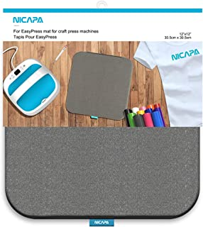 Nicapa Heat Press Mat for Cricut Easypress(12x12 inch) Cricket Craft Vinyl Ironing Insulation Transfer Heating Mats for Easypress 2