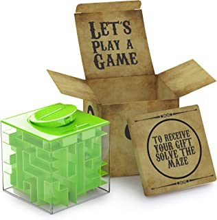 aGreatLife Money Maze Puzzle Box   Unique Money Storage - with a Well Crafted Package   A Box Full of Surprises ! More Fun Than just Putting Money in an Envelope as a Present !