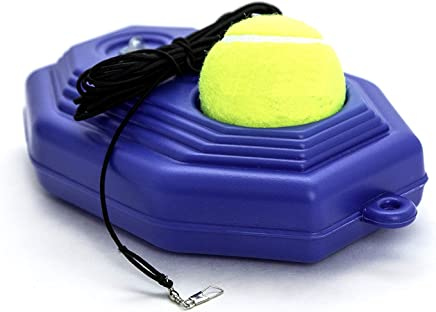 by.RHO Tennis Trainer Rebounder Ball | Cemented Baseboard with Rope Solo Equipment Practice Training Aid Serve Hopper Sport Exercise Base Powerbase Self-Study Rebound Power Base Rebounder Pro