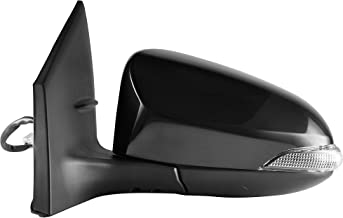 Driver Side Unpainted Power Operated, Manual Folding, Heated With Signal Side View Mirror for 2014-2017 Toyota Corolla - TO1320295