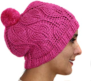 ビーニー帽子キャップLeavesアルパカウールブレンドHandペルー製