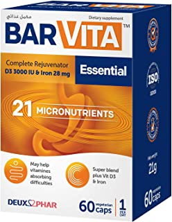 Barvita Essential with 21 micronutrients - vitamins malabsorption and for bariatic surgery care