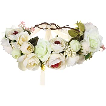 Blumen Stirnband Hochzeit Haarkranz Blumen Krone Strand Party Floral Kopfschmuck