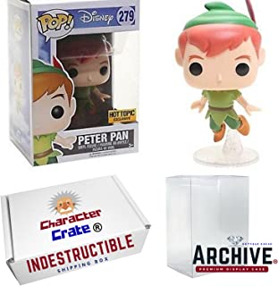 Funko Pop! Disney Classic Flying Peter Pan Hot Topic Exclusive, Concierge Collectors Bundle, Vinyl Figure
