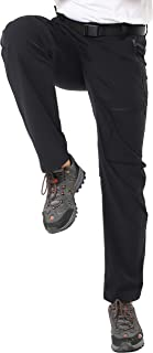Men's Stretch Cargo Pants Lightweight Nylon Hiking Pants, Quick Dry and Water Resistant, 5 Zipper Pockets