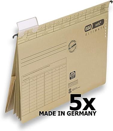 ELBA 100570036 Projekt und Personalhefter vertic ULTIMATE 5er Pack aus Recycling-Karton f�r DIN A4 braun Blauer Engel ideal im B�ro und der Beh�rde