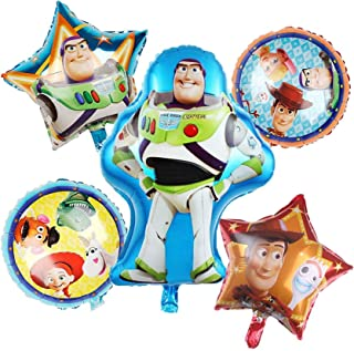 """5 Pack Toy Story Balloon Party Supplies 30"""" Foil Balloons for Kids Baby Shower Birthday Party Decorations"""