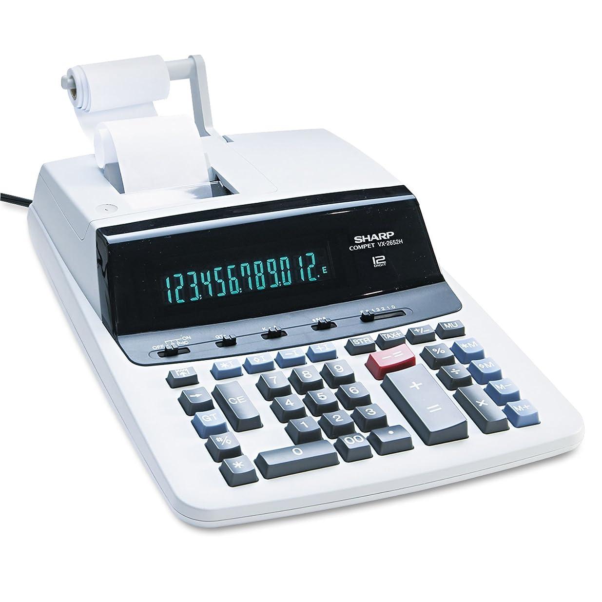 失業者乞食まともなSharp VX2652H 電卓 2色カラー 黒 赤 毎秒4.8ライン  1-Pack