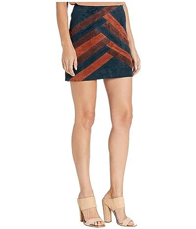 Blank NYC Color Block Suede Mini Skirt (Road Block) Women