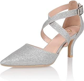 Women's Fashion Stiletto Mid Heel Sandal Pump Shoe