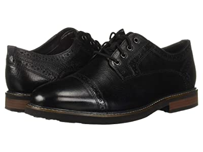 Nunn Bush Overland Cap Toe Oxford with KORE Walking Comfort Technology (Black Tumbled) Men