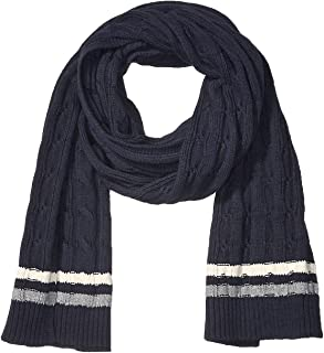 Goodthreads Men's Standard Soft Cotton Cable Knit Scarf