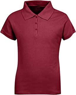 Premium Short Sleeves Girls Polo Shirts – ScotchGuard Treated, Stain Resistant