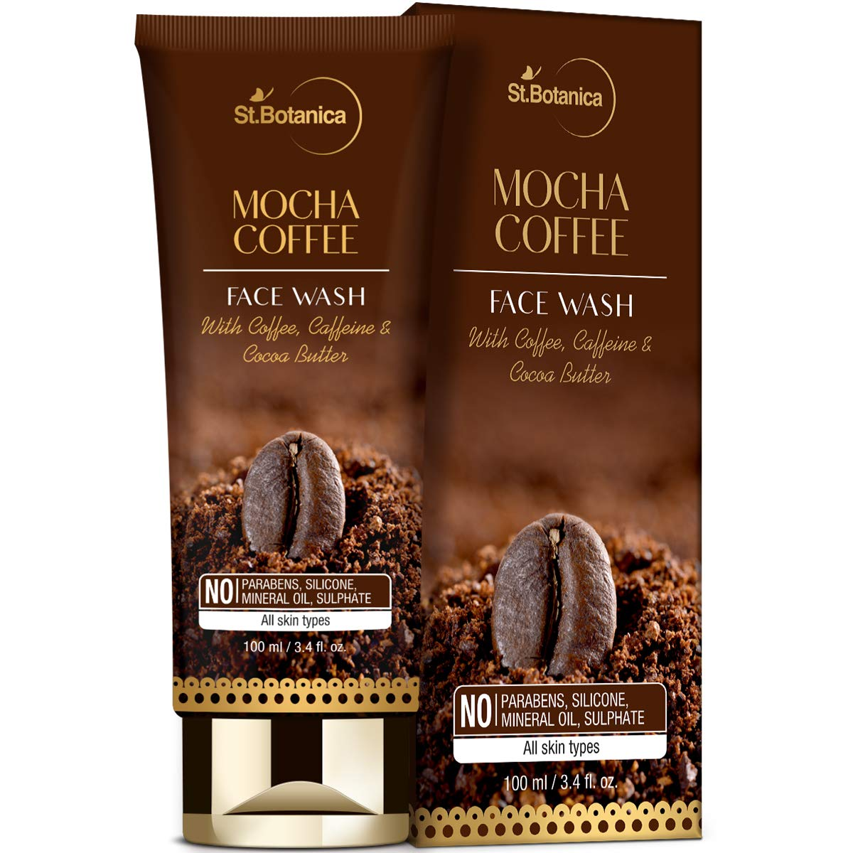 StBotanica Mocha Coffee Face 100ml With Wash Ranking TOP2 Cheap bargain Caffeine