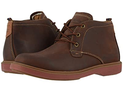 Florsheim Kids Supacush Chukka, Jr. (Toddler/Little Kid/Big Kid) (Brown Crazy Horse/Brick Sole) Boy