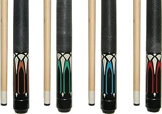 "Lot of 4-58"" 2 Piece Hardwood Canadian Maple Pool Cue Billiard Table Stick 18-21 Oz.."