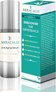 Miracalis- Face and Neck Firming Cream Serum. Smooths Wrinkles. Improves Skin Elasticity. Aids Skin Renewal for Aged and S...