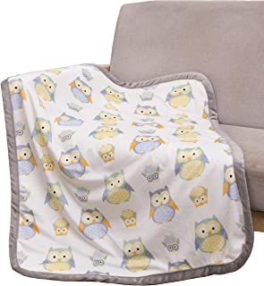 Sunshine Owl Baby Fleece Blanket with Sherpa Backing Lightweight Super Soft Unisex Baby Plush Blankets for Girls Boys Newborn Toddler,30