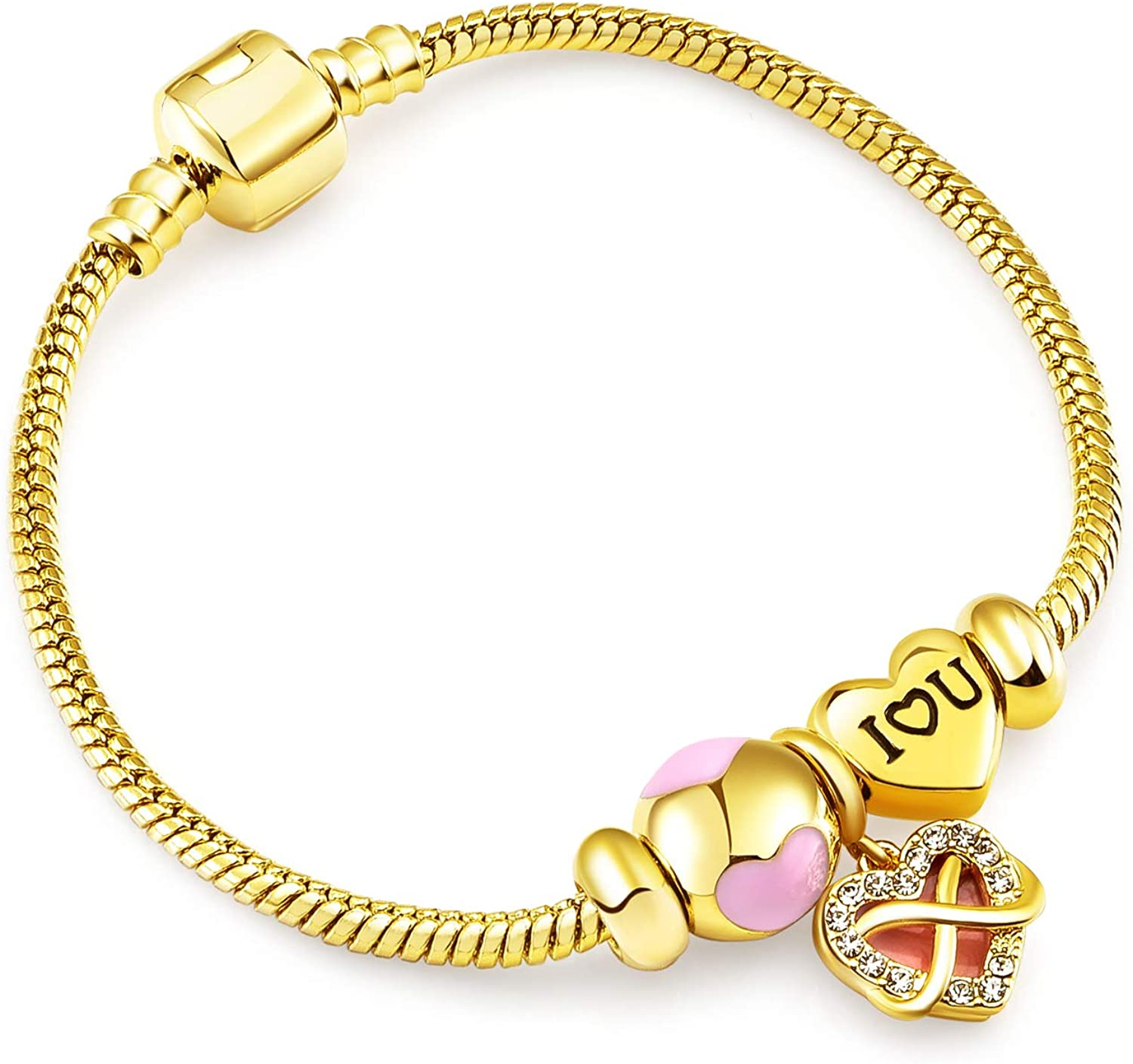 RIMAYZI 14K Gold Plated Cash special price Charm Women's Bracelet for Women Cheap mail order sales
