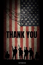 Thank You Notebook: Veteran Gift for Patriots Notebook 4th of July Present Independence Day Veterans Day Memorial Guestbook Composition Pride America ... Memo I Size 6 x 9 I Ruled Paper 110 Pages