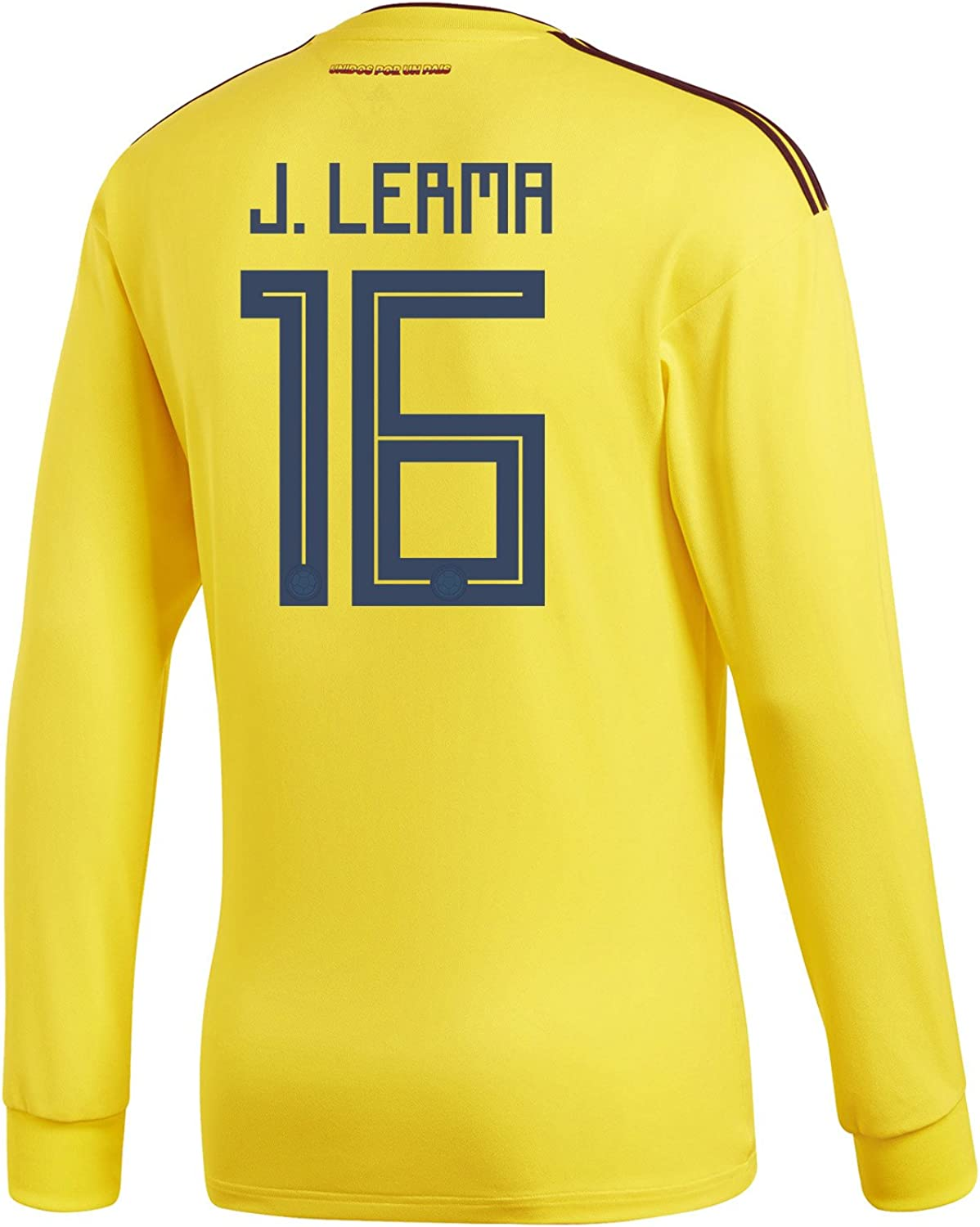 Adidas J. Lerma  16 Colombia Home Men's Long Sleeve Soccer Jersey World Cup 2018