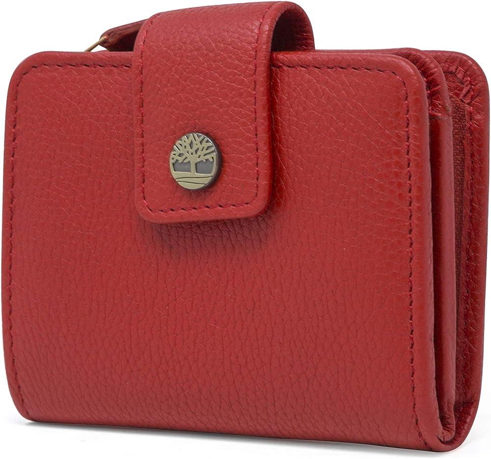 Timberland - portafoglio da donna in pelle porta carte di credito con protezione anticlonazione rfid