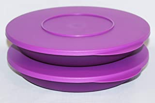 Tupperware Set of 2 Impressions Pasta Serving Plates Bowls 34 Ounce Purple