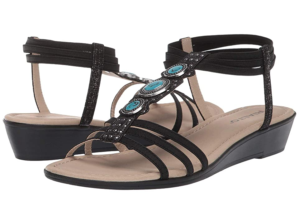 Rialto Georgy (Black Metallic Smooth) Women