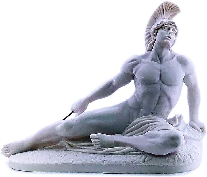 Scultura achille che moriscono trojan eroe freccia in marmo greco scultura statua copia GENERIC-645259