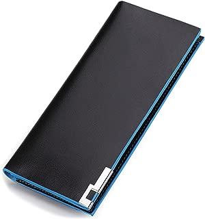 PULABO Mens Long Style Pu Leather Wallet Card Case Cash Receipt Holder Organizer
