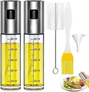 Oljespruta, bärbar oljespruta för köksbruk, 2st sprayflaskor för olivolja – med bakborste, flaskborste och oljetratt, olj...