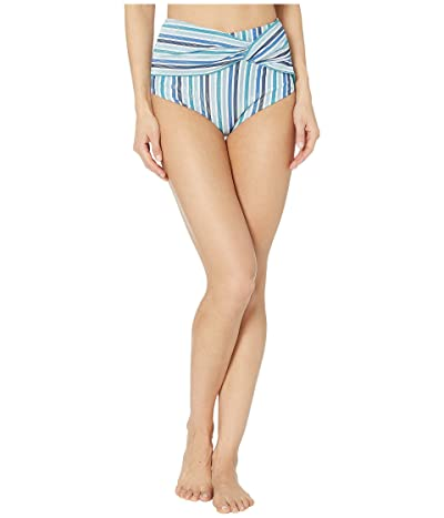 Jonathan Simkhai Metallic Bikini Bottoms (Blue Stripe) Women