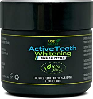 Activated Teeth Whitening Charcoal Powder By UseAgain 100% Natural - ULTRA Fine Organic Coconut Charcoal Powder – Sweet Mi...