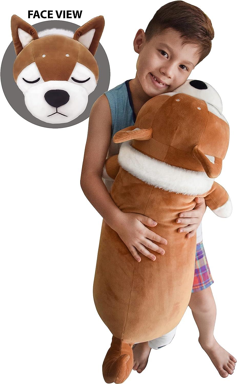 Extra Soft Squishy Regular discount Husky free shipping Plush Pet Pillow Stuffed Anim Hugging
