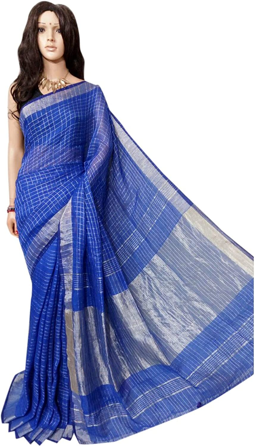 Linen by linen 80 count Saree Full weaving work by weavers traditional handoom Bengal Women sari Indian Ethnic Festive saree 108 9