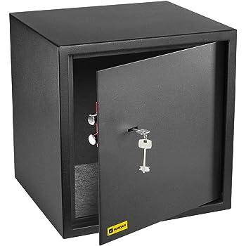 HomeSafe HV38K Caja fuerte con Cerradura de Calidad 38x35x35cm (HxWxD), Negro Satén de Carbón: Amazon.es: Bricolaje y herramientas