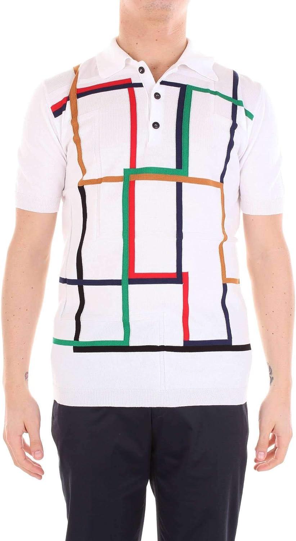 PAUL MEMOIR Men's S8PP09102WHITE White Cotton Polo Shirt