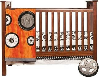 One Grace Place Teyo's Tires 3 Piece Infant Set, Black/White/Grey/Orange