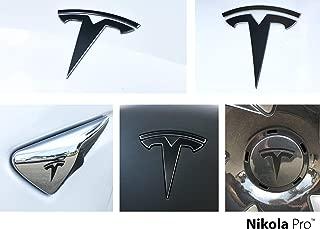 Nikola Pro Tesla Model 3 Logo Decal Wrap Kit (Satin Black)