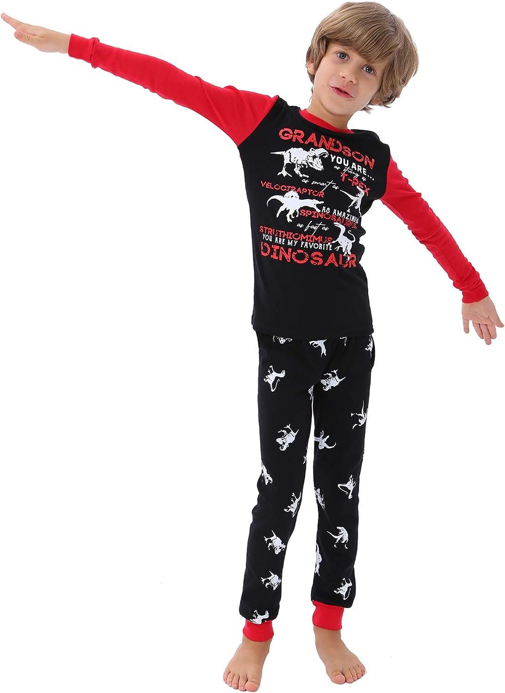 DAUGHTER QUEEN 18 Months-12 Years Boys Pajamas Toddler Kids 100% Cotton Sleepwear