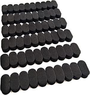 EUDAX FPV Black Sponge Mat Landing Skid Pad Gear Anti-Vibration Shockproof Foam Sticky Tape for rc multirotor Quadcopter Racing Copter Drone Mini-Quad (60 Pcs)