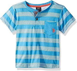U.S. Polo Assn. Boys' Short Sleeve Fashion Henley