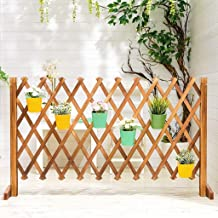 H-Picket Fence Grid Decorative Telescopic Fence Wooden Lattice Fence Garden Screen Fence Indoor Partition