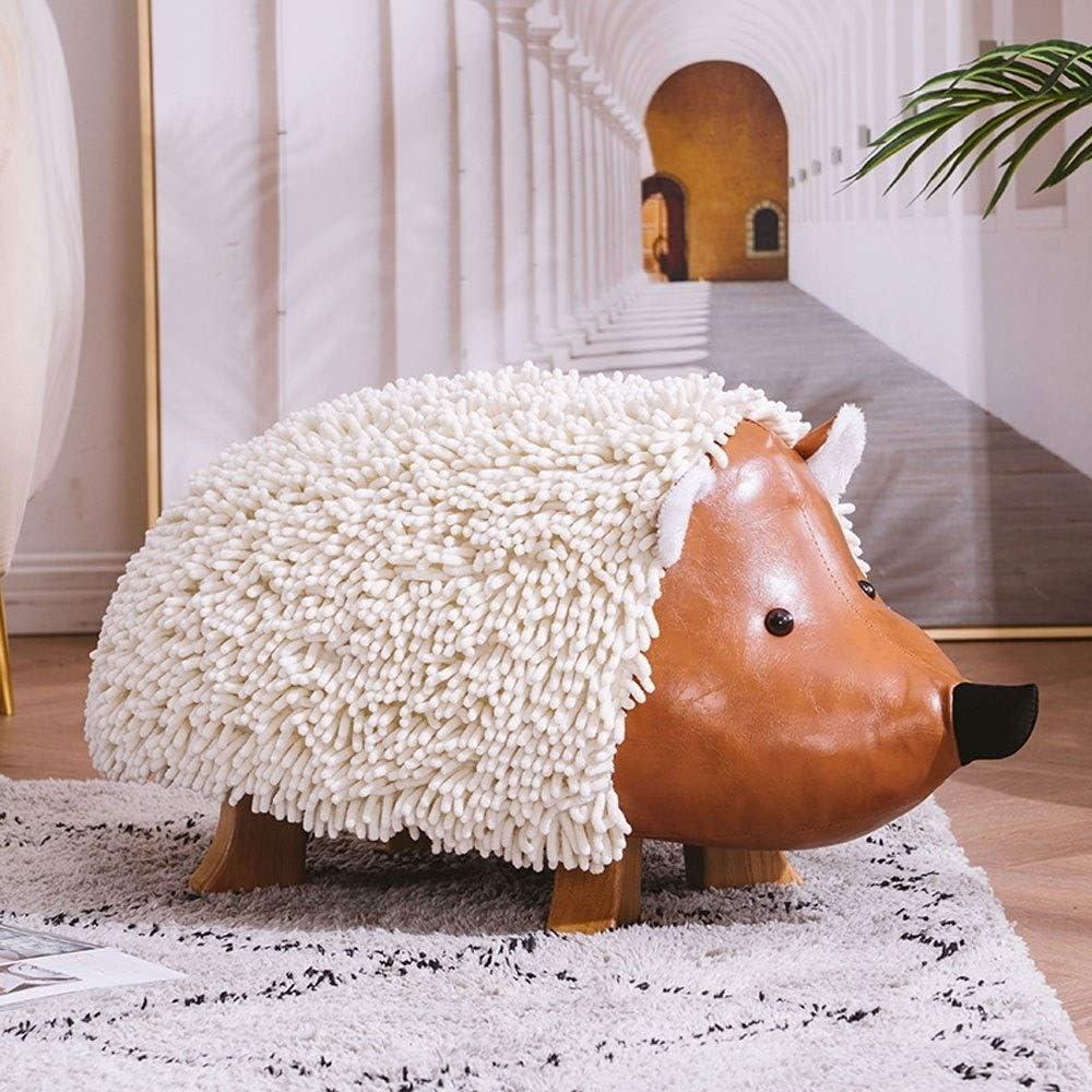 YUMUO Cartoon Hedgehog Footstool Creative Peluche Siège Chaussure Canapé Tabouret Assis Pier pour Salon Chambre F0107 (Couleur: Blanc) 2